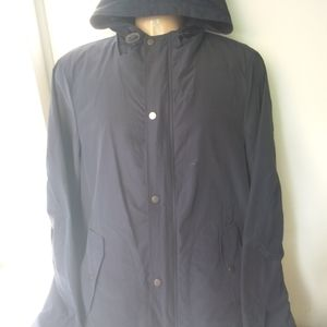 Parker hoodie with double pockets lined